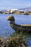 Reed boat- Lake Titicaca, Peru Royalty Free Stock Photography