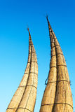 Reed Boats in Huanchaco, Peru Royalty Free Stock Photography