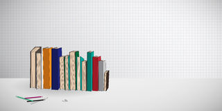 Reed books wallpaper Royalty Free Stock Image
