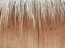 Reed Decoration de uma fachada de madeira Imagens de Stock