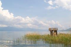 Reed fishing hut Stock Image
