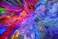 Reed Flute Cave em Guilin, China Fotografia de Stock Royalty Free