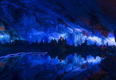 Reed Flute Cave in Guilin China royalty free stock photography