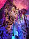 Reed Flute Cave i Guilinï ¼ ŒChina royaltyfria foton