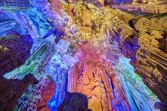 Reed Flute Cave i Guilin, Kina arkivfoton