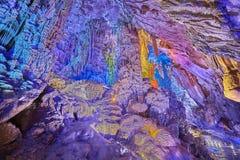 Reed Flute Cave i Guilin, Kina royaltyfria bilder