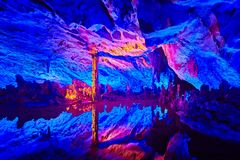 Free Reed Flute Cave In Guilin, China. Royalty Free Stock Image - 116834756