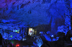Reed Flute Cave stalactites Royalty Free Stock Photography