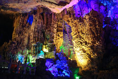 Reed Flute Caves in Guilin Royalty Free Stock Image