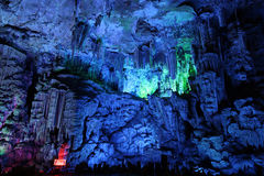 Reed Flute Caves in Guilin Royalty Free Stock Photo