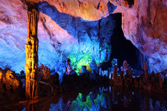 Reed Flute Caves in Guilin Stock Image
