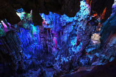 Reed Flute Caves in Guilin Royalty Free Stock Images