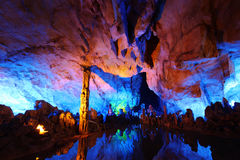 Reed Flute Caves in Guilin Royalty Free Stock Photos