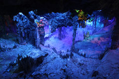 Reed Flute Caves in Guilin Royalty Free Stock Photography