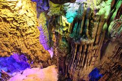 Reed Flute Caves in Guilin, Guangxi Provine, China Stock Photos
