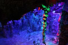 Reed Flute Caves in Guilin, Guangxi Provine, China Stock Photography