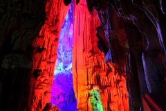 Reed Flute Caves in Guilin, Guangxi Provine, China Royalty Free Stock Photo