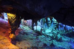 Reed Flute Caves in Guilin, Royalty Free Stock Image