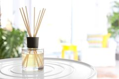 Free Reed Freshener On Table In Light Room Closeup Stock Photography - 116317302