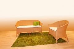 Reed furniture Stock Photo