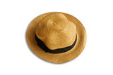 Reed hat isolated on the white. Royalty Free Stock Photos