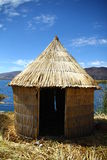 Reed hut at Lake Titicaca Stock Image