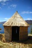 Reed hut at Lake Titicaca Stock Image
