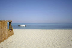 Reed Hut On Beach, Red Sea Royalty Free Stock Photo