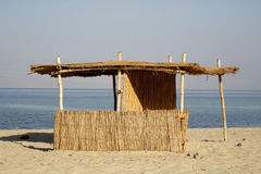 Reed Hut On Beach, Red Sea Royalty Free Stock Image