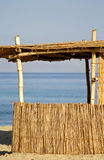 Reed Hut On Beach, Red Sea Stock Photos