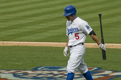 Reed Johnson. Los angeles dodgers' outfielder Reed johnson walking off the field Stock Images