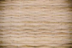 Reed mat texture. Old reed mat texture for background royalty free stock photography