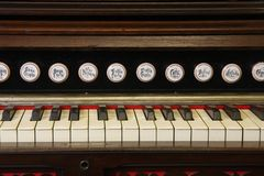 Reed organ keyboard Royalty Free Stock Photography