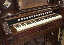 Reed organ keyboard. Close up of reed organ keyboard Stock Photo