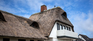 Reed roofed house in Germany. Royalty Free Stock Image