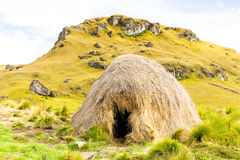 Reed Shelter At High Altitude In Andes Mountains Royalty Free Stock Images