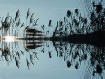 Reed, Water, Mirroring, Lake, Bank Royalty Free Stock Photos