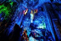 Reedflöte-Höhlen in Guilin Lizenzfreies Stockbild