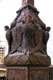 Reedom Bridge, Bronze Seraphim light posts guard over the bridge. Freedom Bridge, Bronze Seraphim light posts guard over the bridge from elevated pillars ove Stock Images
