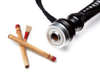 Reeds of bagpipes isolated Royalty Free Stock Photos