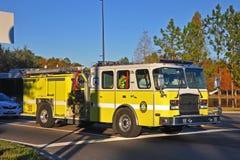 Reedy Creek Fire Truck i Orlando, Florida, USA arkivfoto