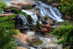 Reedy River Falls Greenville South Carolina Stockfoto