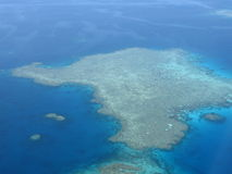 Reef from Above. This picture was taken while flying over the Great Barrier Reef in Australia Royalty Free Stock Images