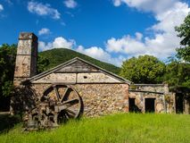 Reef Bay Sugar Mill, St. John, U.S. Virgin Islands National Park. An exterior view of the sugar mill ruins at Reef Bay in U.S. Virgin Islands National Park on St royalty free stock photography