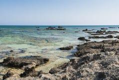 Reef on Elafonisi Crete Royalty Free Stock Photos