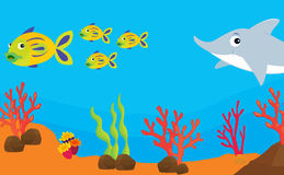Reef fish illustration Royalty Free Stock Photography