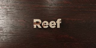 Reef - grungy wooden headline on Maple  - 3D rendered royalty free stock image. This image can be used for an online website banner ad or a print postcard Royalty Free Stock Image