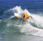 Reef Hawaiian Pro 2008. Nov. 13: Casey Brown competes in the Reef Hawaiian Pro at Haleiwa Beach which is part of the Vans Triple Crown of Surfing in Hawaii Stock Images