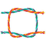Reef knot. Illustration of a reef-knot tie colorful rope for background use Royalty Free Stock Photos