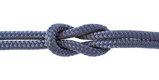 Reef knot isolated Stock Photography